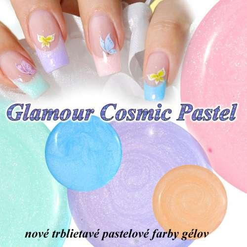 Farebný uv gél na nechty Glamour Cosmic Pastel