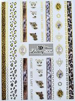 Luxury vodolepky gold L004 - Leopard