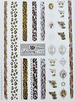 Luxury vodolepky silver L002 - Leopard