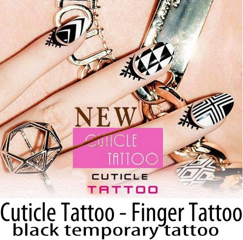 Cuticle tattoo - Finger Tattoo