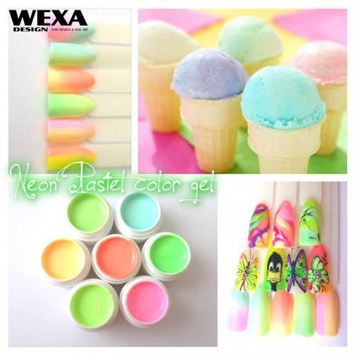 Neon Pastel color gel