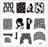 Stamping Nail Art Platnička - XJ8