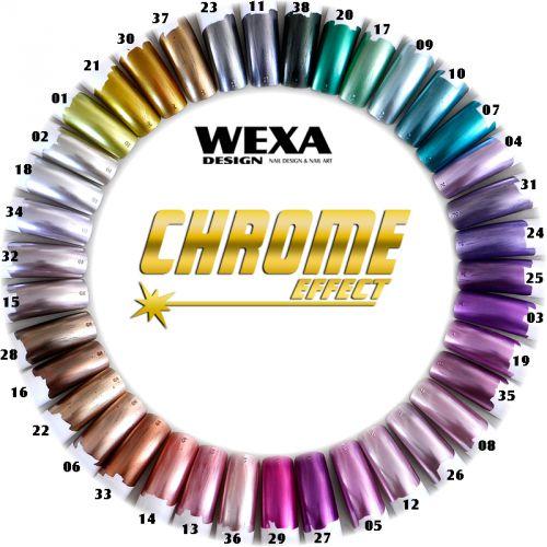 CHROME EFFECT - chrómové nechty WEXA