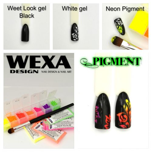 Step by Step WEXA pigment na nechty