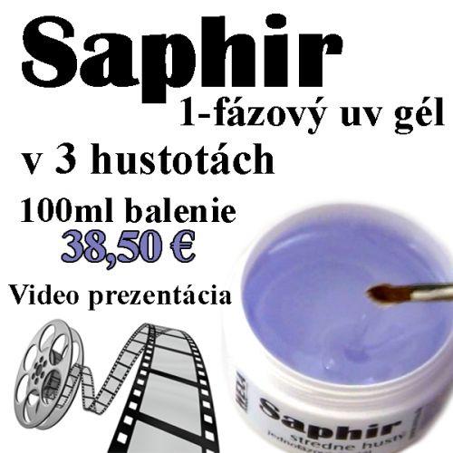 Saphir - nové 1-fázové uv gély s video ukážkou