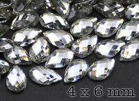 Akrylové kamienky - Tier Drops Crystal 4x6mm