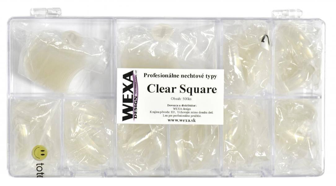 Clear Square 500 - priehľadné tipy na modeláciu nechtov