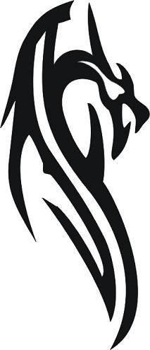 Tattoo šablónka - Tribal dragon