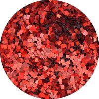 Konfety štvorčeky mini - 19 metal hologram červené