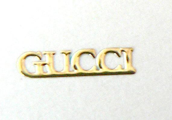 Kovové príklepky do nechtov Gucci zlaté