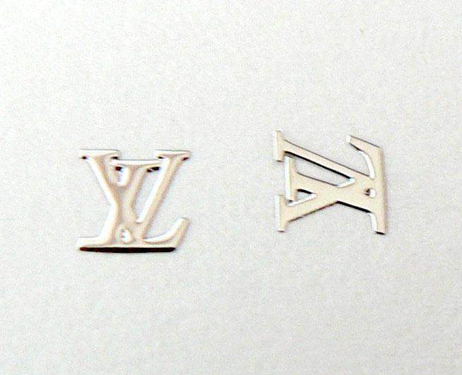 Kovové príklepky do nechtov LV silver