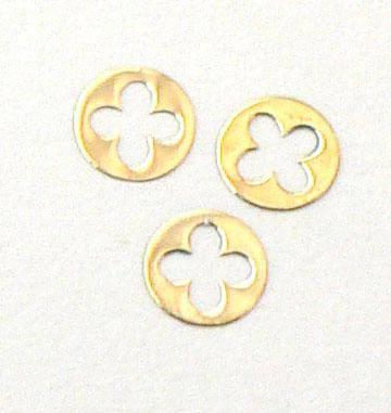 Kovové príklepky do nechtov LV gold