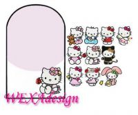 Nail Tattoos - Kitty friends -105