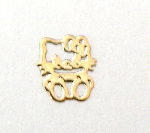 Kovové príklepky do nechtov Hello Kitty gold