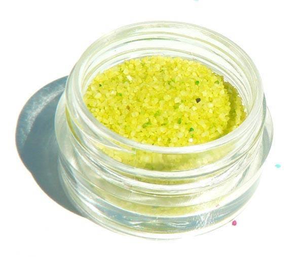 Deco piesok - 10 žlto zelený