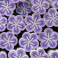 FIMO tyčinka - Kvetinka fialovo biela hviezdová