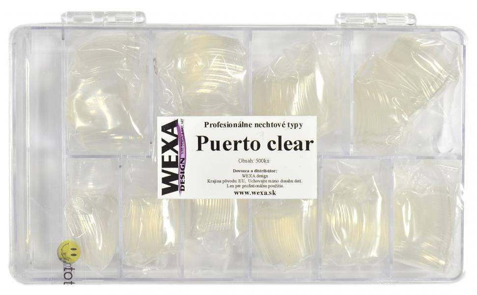 Tipy na nechty PUERTO clear - BOX 500ks