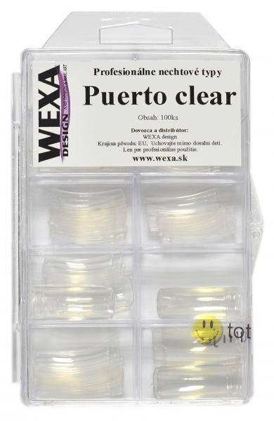 Tipy na nechty PUERTO clear - BOX 100ks