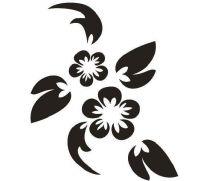 Tattoo šablónka č. 28 - Kytička