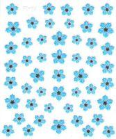 Flower Stickers - Krasuľka modrá