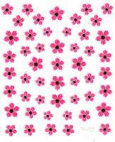 Flower Stickers - Krasuľka červená