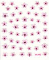 Flower Stickers - Krasuľka biela