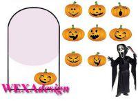 Nail Tattoos - Halloween pumpkins - 109