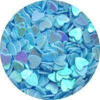 Konfety srdiečka - 33. bledomodré hologram