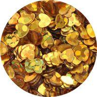 Konfety srdiečka - 34. zlaté metal hologram