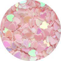 Konfety srdiečka - 36. bledoružové hologram