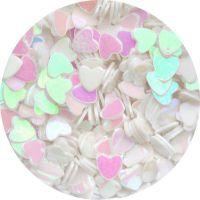 Konfety srdiečka - 41. biele hologram