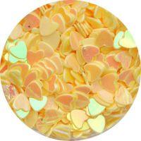 Konfety srdiečka - 42. žlté hologram