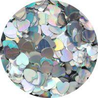 Konfety srdiečka plné slim - 1.strieborné metal hologram