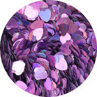 Konfety srdiečka plné slim - 3. fialové metal hologram