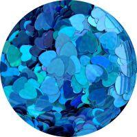 Konfety srdiečka plné slim - 6. modré metal hologram