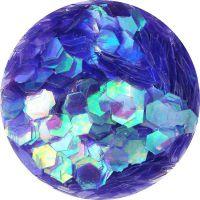 Konfety hexagony - 21. fialové aqua hologram