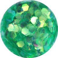 Konfety hexagony - 22. zelené aqua hologram