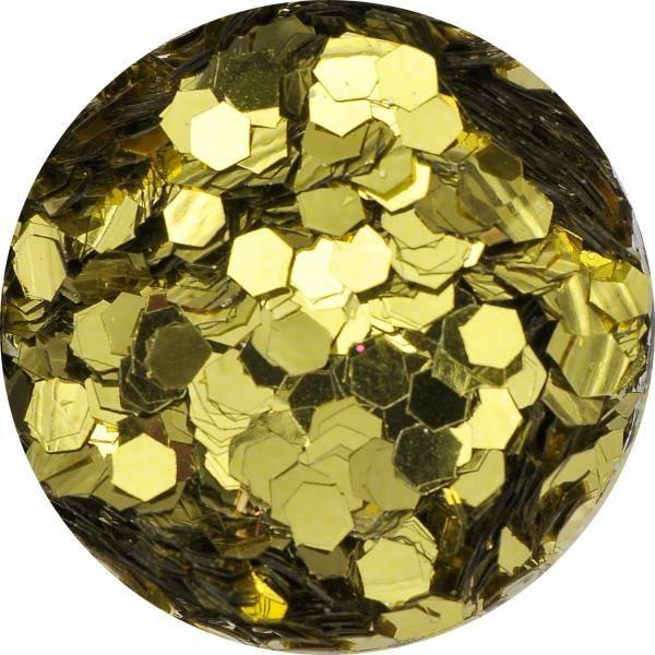 Konfety hexagony mix - 3. žlté metal