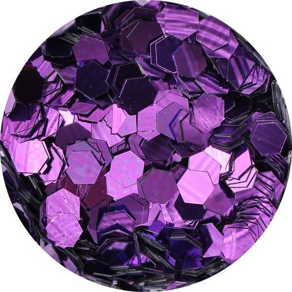 Konfety hexagony mix - 9. fialove metal