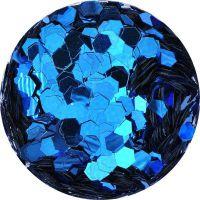 Konfety hexagony mix - 10. modré metal
