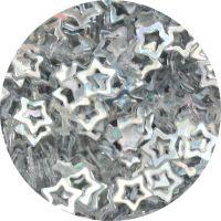 Konfety hviezdičky duté - 9. strieborné metal hologram