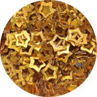 Konfety hviezdičky duté - 10. zlaté metal hologram