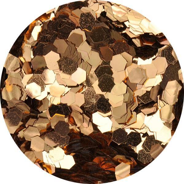 Konfety hexagony medium - 6. hnedá metal