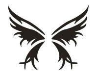 Tattoo šablónka - Motýľ siluet-159