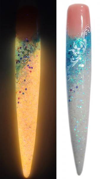 Fosfor gél - 12 modrá/oranžová