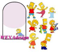 Nail Tattoos - Simpsons Kids - 111