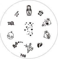 Tribal Stamping Nail Art platnička - T46