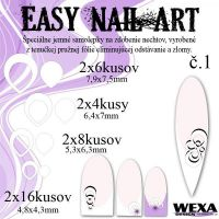 Easy Nail Art č. 1 - biela