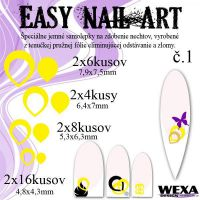 Easy Nail Art č. 1 - žltá