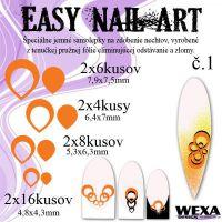 Easy Nail Art č. 1 - oranžová